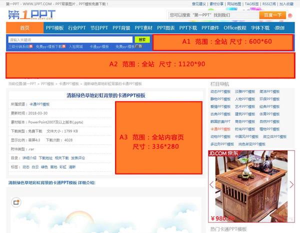 第一PPT模板网首页广告位